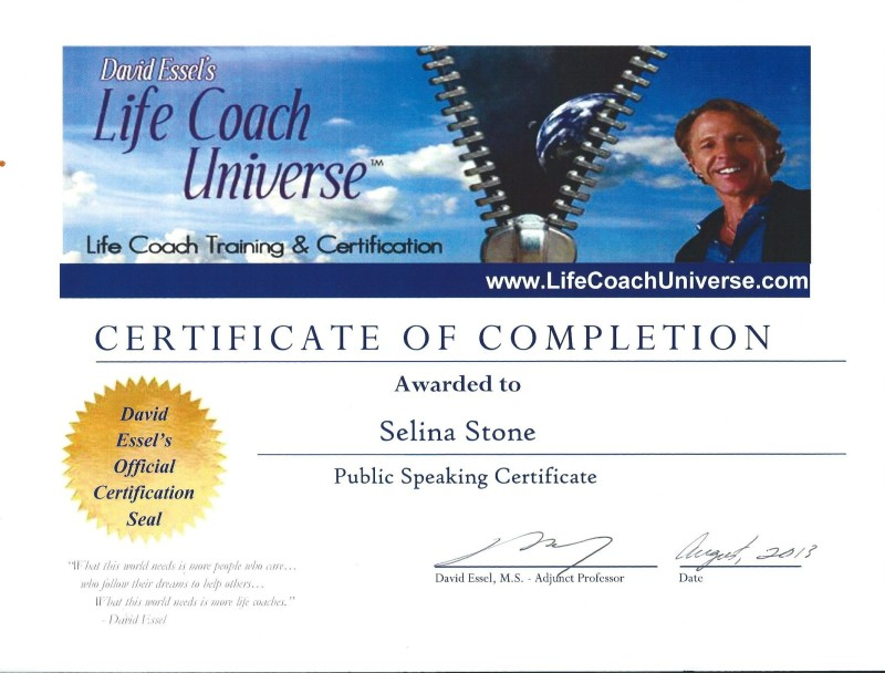 Life Coach Certification Selina Stone Holistic Addiction Recovery